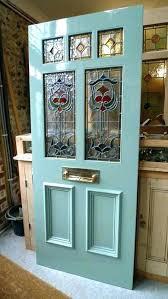 stained glass front doors leaded door inserts art