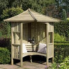 blooma elegant wooden corner arbour