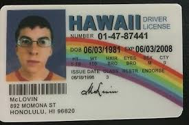 Fake 4 99 Mclovin Movie Joke Picclick Superbad Id - From Fogels