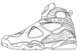 Coloring Pages Of Shoes Jordans My Localdea