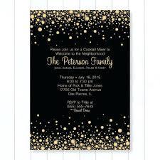 Neighborhood Party Invitation Wording Neighborhood Party Invitation Wording Gold And Black Confetti