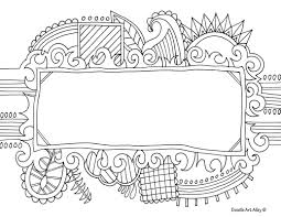 Small Picture Name Templates Coloring pages Doodle Art Alley