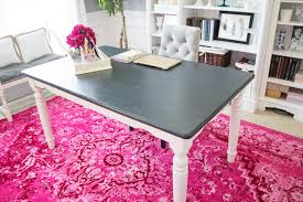 office dining table. Dining Room Table Repurposed As A Desk For Home Office