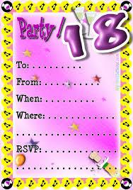 18th birthday party invitation templates free ideal with 18th birthday party invitation templates free