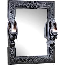 Design Toscano Mirror Design Toscano Dragons Thorne Twin Sentinel Dragons Mirror