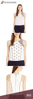 Twelfth Street By Cynthia Vincent Size Chart Nwt Cynthia Vincent Aztec Embroidered Top Please See