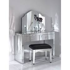 bedroom exciting glass vanity chair with white makeup vanity set