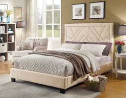 Furniture of America Beige Platform Bed CM7433BG