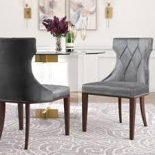 gray velvet kitchen dining chairs