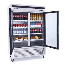 mcf8707 bottom mount 2 two glass door refrigerator atosa catering equipment inc