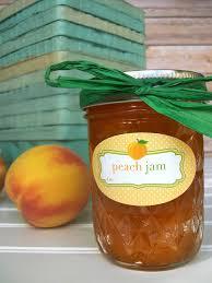 Colorful Adhesive Canning Jar Labels: Oval Jam Jar Labels for ... & oval peach jam canning label for quilted jars   CanningCrafts.com Adamdwight.com