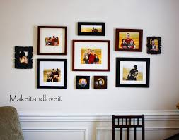 wall photo frame collage decorate my home part 8 picture collage make it and love it