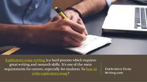 drafting an exploratory essay for university exploratory essay writing