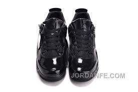 air jordans 4 11lab4 black patent leather for hot
