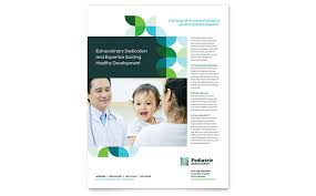 children hospital flyers medical health care flyers templates design examples