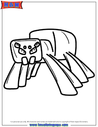 cave spider coloring page h m coloring pages minecraft spider coloring pages