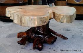 naturally unique cypress tree trunk handmade slab coffee table log rustic chile