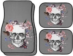 car floor mats for women. Garden Skull Car / Vehicle Floor Mats - Multiple Colors On Grey For Women R