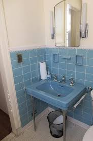 blue bathroom tiles. Vintage Blue Bathroom Tiles Retro Sinks Wall Sink With Rustic Decors
