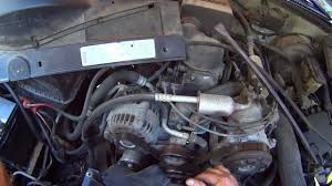 All Chevy 97 chevy k1500 parts : How to change a Chevy G.M. Truck Water pump and Radiator - YouTube