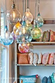 display blown glass pendant light