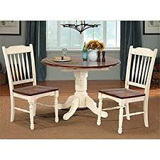 42 round table. British Isles 42\u0026quot; Round Double Drop-Leaf Dining Table - Merlot-Buttermilk 42