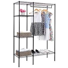 Heavy Duty Coat Rack With Shelf SONGMICS Shelving Garment Rack Heavy Duty Clothes Closet with 64