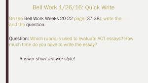 activities bell work bell work quick write activity 4 on