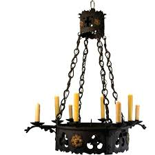 rustic candle chandelier vintage 8 light glass shade pillar wrought iron chandeliers diy