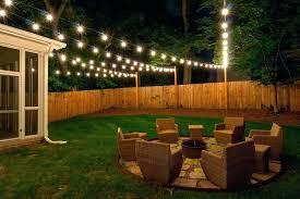 backyard lighting ideas how to hang outdoor string lights inside yard