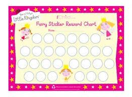 Fairy Sticker Reward Chart Ichild
