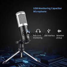 USB Micro Điện Dung Micro Máy Tính Cho Youtube Podcast Ghi Âm Nhạc Cụ Chơi  Trực Tiếp Chat Voice Micro Míc
