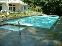 20x40 Rectangle Pool with Attached Spa Aqua Pro Swimming Pool