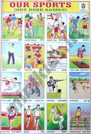 Outdoor Games Our Sports Chart Number 73 Minikids In