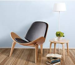 lounge chair for living room. minimalist modern design wood lounge chair living room leisure wooden pad natural for