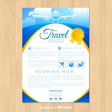 Travel Flyer Template Vector Free Download Brochure Psd Pamphlet