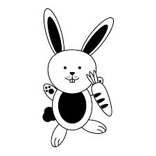 漫画のウサギかウサギのアイコン画像ベクトル イラスト デザインの