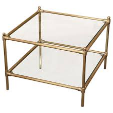 Brass Coffee Table Glass Top