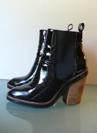 new opening women shoes theoldbag aldo black patent leather chelsea boots size 7 us