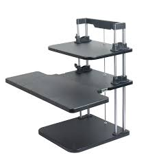 sit stand desk height adjule table computer laptop