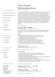 Sample Resume For Web Designer Inspiration Best Resume Format For Developer