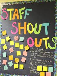 office bulletin board ideas pinterest. An Excellent Idea To Build Staff Rapport And Recognize Employee Contribution - Shout Outs Board. Office Bulletin Board Ideas Pinterest T