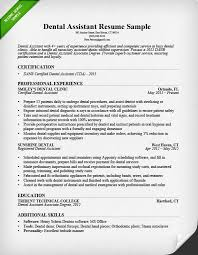 Resume Template For Dental Assistant Best Dental Assistant Resume Sample Tips Resume Genius