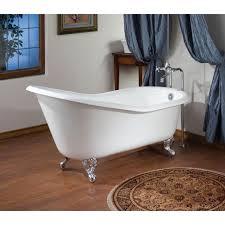lovable 54 freestanding bathtub 54 inch cast iron slipper clawfoot