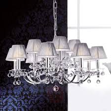 with fabric shades chandelier crystal design design hotel lighting