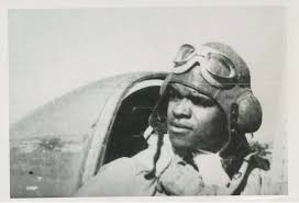 luther smith caf red tail squadron lhs in p 47 cockpit 1944photo2 character