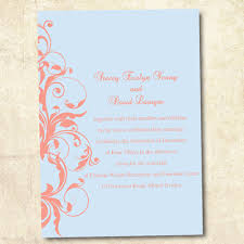 fourth of july wedding invitations. pastel blue and coral wedding invitations fourth of july