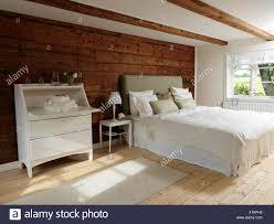 Schweden Skandinavischen Stil Schlafzimmer Mit Holz Und Weißen