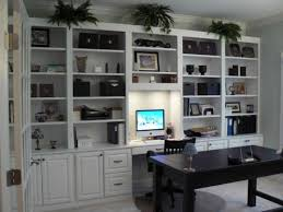 built in home office. home office built in simple white cabinets