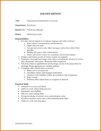 Accounting Assistant Job Description For Resume Administrative Assistant Job Description For Resume 11